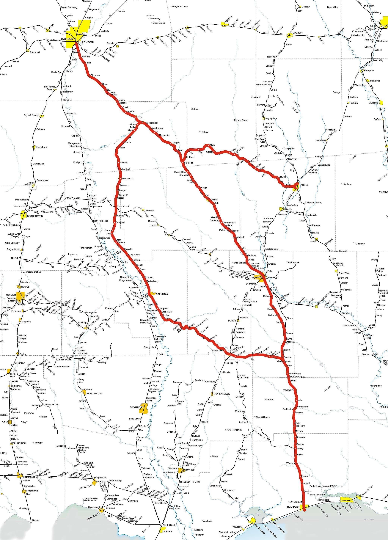 Mississippi Rails on ma railroad map, gt railroad map, nys&w railroad map, sp railroad map,